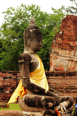 Old Buddha in AYUTTHAYA province, Thailand Old Buddha Architecture Art And Craft Belief Building Built Structure Creativity Day History Human Representation Idol Male Likeness No People Old Buddha Statue Old Buddha Image Outdoors Place Of Worship Religion Representation Sculpture Spirituality Statue The Past