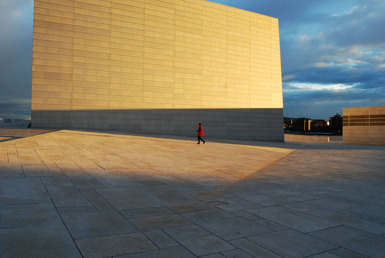 Sunlight Falling On Oslo Opera House