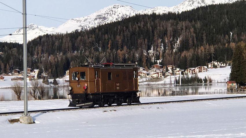 Rhätische Bahn Davos Train - Vehicle Historic Snow ❄ Nature Winter Mountain Transport Train First Eyeem Photo EeyEmnewhere