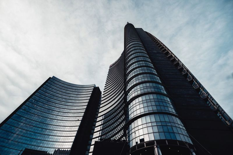 Low Angle View Architecture Built Structure Sky Building Exterior Office Building Exterior Tall - High City No People Outdoors Nature Tower Day Building Skyscraper Cloud - Sky Modern Office Travel Destinations