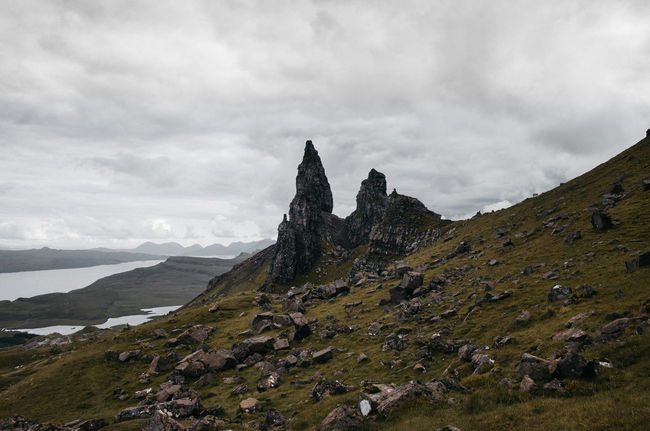 Beauty In Nature Cloud - Sky Cultures Day Landscape Mountain Nature No People Old Man Of Storr Outdoors Scenics Schottland Scotland Sky Tranquil Scene Tranquility