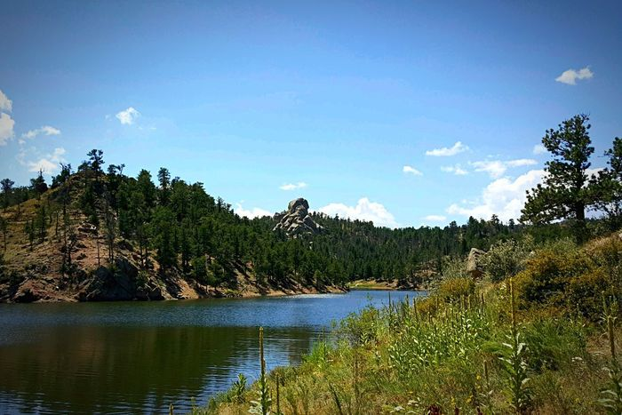 On the water Amazing Nature State Park  Blue Sky And Clouds Taking Photos On A Hike Beauty Everywhere Wyoming USA Enjoying Life Rock Formation Lakeshore Water Reflections