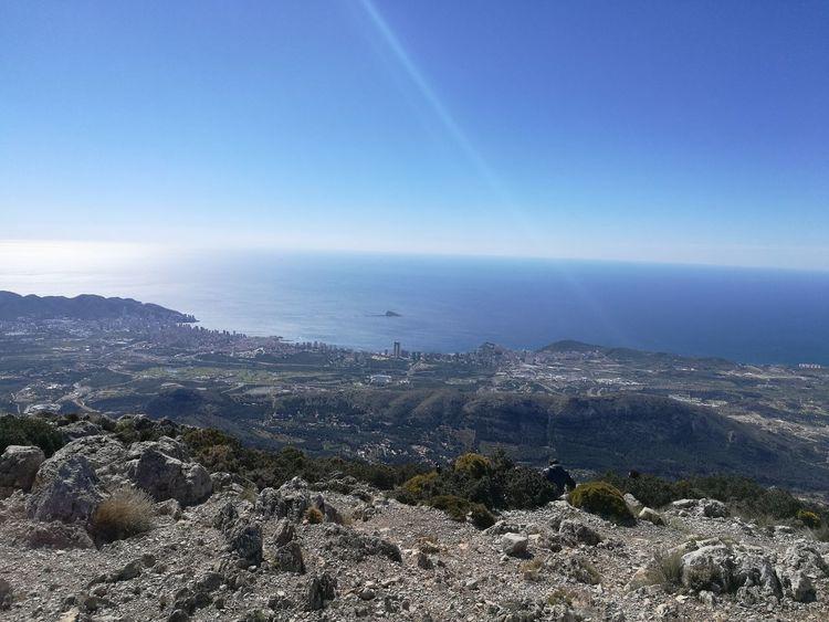 Sky Cities Sea Mointain Cimas Panoramic Photography Outdoors Beutiful Day Benidorm desde el Puig Campana