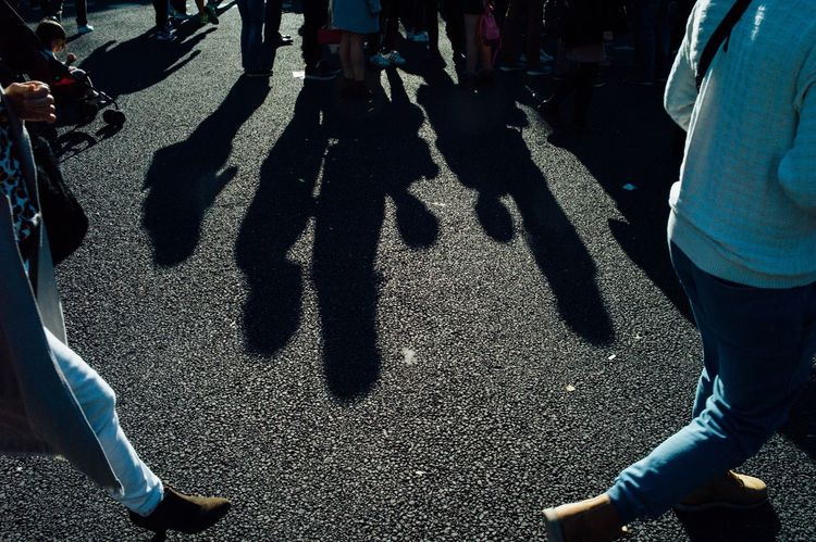 Real People Shadow High Angle View Lifestyles Men Sunlight Leisure Activity Day Street Low Section Outdoors Women Standing Togetherness Road Large Group Of People Adults Only People Adult Light And Shadow Street Photography Leicacamera Streetphotography EyeEm Best Shots Tokyo Street Photography