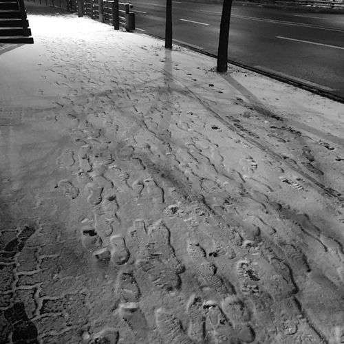 Foot Prints On Snow Of Time Traces Foot Prints Steps Snow White Snow White
