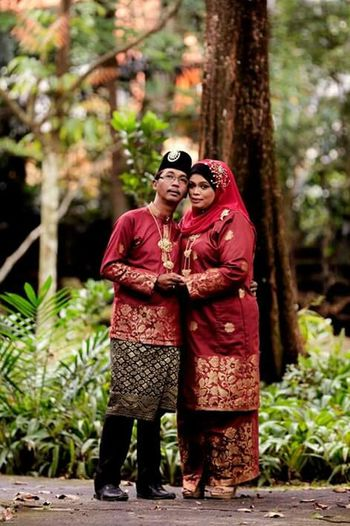 Two People Togetherness Love Standing Happiness Outdoors Married Couple Couple In Love Muslim Couple
