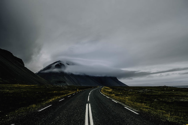 Iсeland road. Cloud Iceland Perspectives On Nature Beauty In Nature Clouds Clouds And Sky Iceland Trip Iceland_collection Landscape Mountain Nature No People Outdoors Road Road Marking Sky The Way Forward Travel Destinations Be. Ready. Instagram - @sonjabelle Summer Road Tripping