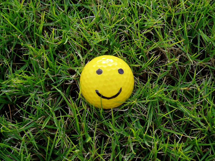 Ball Golfball Grassy Green Happiness Happy Keep Smiling New Life Smile Smiley Smiling Smiling Face