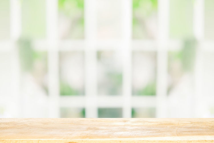 Close-up of window on table