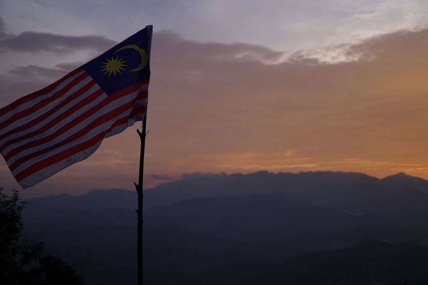 malaysian flag with sunset background Mountain Mountain View Mountain Range Mountain Malaysia Malaysianphotographer Peak Malaysian Mountain Outdoor Photography Malaysia Truly Asia Mountain Sunset Sunrise Sunset #sun #clouds #skylovers #sky #nature #beautifulinnature #naturalbeauty #photography #landscape Relaxing Sunset Forest Nature Nature Photography Naturelovers Jungle Life Jungle Shoot Jungle Into The Wild Hikingadventures Outdoors Hiking Jungle Trekking Flags In The Wind  Malaysianphotographer Sunset_captures No People