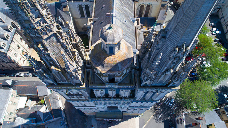 Aerial photography of Saint Maurice cathedral in Angers city, Maine et Loire, France Aerial Photography Aerial View Angers Anjou Cathedral Christian Church City Cityscape Day EyeEm Best Shots EyeEm Selects France High Angle View Historical Building Landmark Landscape Maine Et Loire Monument Religion Religious Architecture Residential Buildings Saint Maurice Saint Maurice D'Angers.