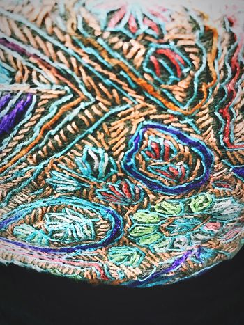 Oman Culture Traditional Clothing Traditional Culture Handicraft Hand Made Omani Kummah Close-up Multi Colored Pattern Textile Traditional Head Wear Visit Oman