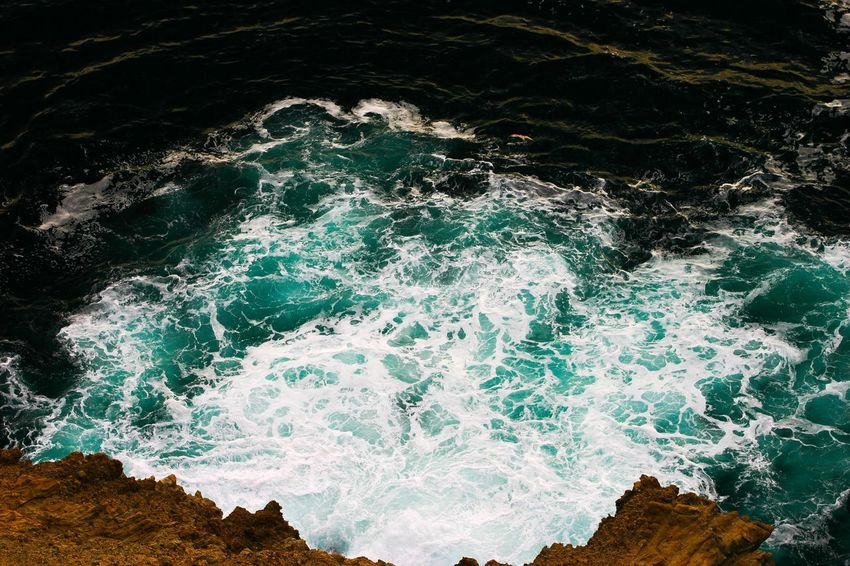 Sea Nature Water High Angle View Wave No People Beauty In Nature Motion Power In Nature Outdoors Day California Dreamin