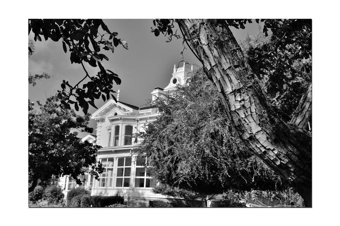 Meek Mansion 5 Cherryland,Ca. Historic Meek Mansion Architecture Victorian Style: Second Empire, Italian Villa Built 1869 William Meek 10 Acre Estate Once 3,000 Acres Orchards: Cherry,apricots, Plums & Almonds Monochrome_Photography Monochrome Black & White Black & White Photography Black And White Black And White Collection  Hayward Area Recreation Dept. H.A.R.D Purchased 1964 Trees National Register Of Historic Places 73000393 Hayward Area Historical Society Manages