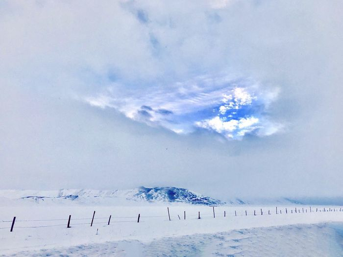 Cloud - Sky Cloud - Sky Sky Beauty In Nature Animal Scenics - Nature Nature Environment Cold Temperature Snow