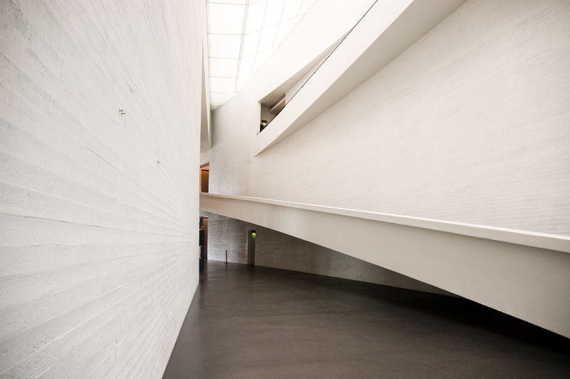 The Kiasma Museum in Helsinki, Finland. Architecture Built Structure Day Finland Helsinki Indoors  Kiasma Museum Museum Of Modern Art Museums No People Ramp Steps And Staircases White White Color