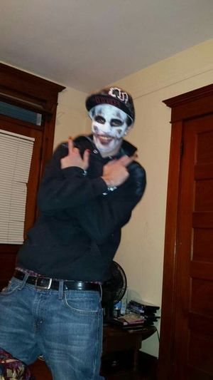 Here is my Juggalo, Jesse Booth lol Clown Clownface Clownzombie Being A Clown (: Clownkiller My First Pic On EyeEm