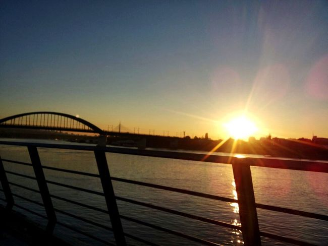 Sun Sunset Sunlight Water Nature Sky Beauty In Nature River Sava River Beograd 😌🙈