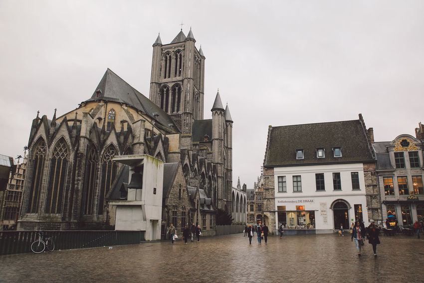 Architecture Belgium Building Exterior Built Structure City Day Ghent History No People Outdoors Religion Sky Spirituality Winter