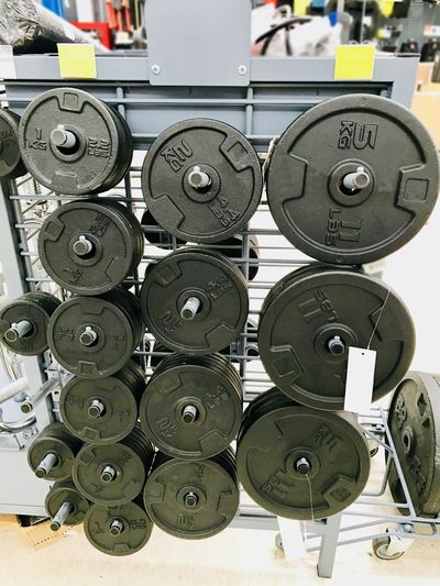 Barbell Barbell Plate Close-up Day Indoors  Large Group Of Objects No People Sport
