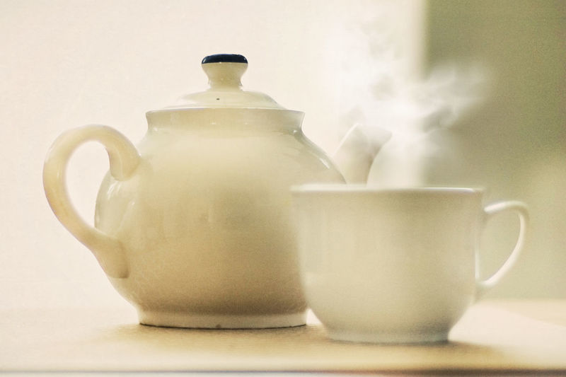 Cup Drink Greenish HOME AGAIN  Home Home Sweet Home Indoors  Relaxation Time Steaming Tea - Hot Drink Tea Cup Teapot Vintage