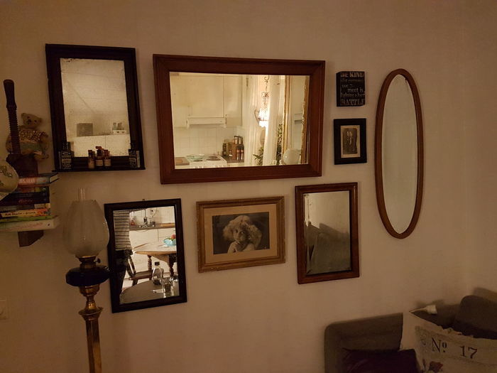 My collection of antique mirrors .. i love mirrors 👍 Antique Mirrors Antiques Old Mirrorwall My Home My Castle