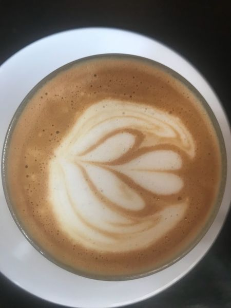 """My """"cortado"""" milk & cofee Coffee - Drink Refreshment Coffee Drink Food And Drink Cup Mug Coffee Cup Still Life Frothy Drink Froth Art Close-up Hot Drink Indoors  Directly Above Freshness Creativity Cappuccino Food No People"""