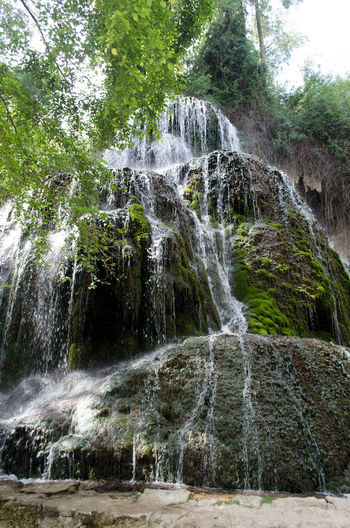 Monasterio de Piedra, El rio Piedra y sus cascadas. 2015  Beauty In Nature Day Eddl Forest Growth Low Angle View Monasterio De Piedra Monastery Monastery Of Stone Motion Mountain Nature No People Outdoors Power In Nature Rock - Object Scenics Sky Stone's Monastery Travel Destinations Tree Water Waterfall