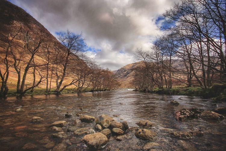 Scottish river on the West Coast Tranquil Scene River Runningwater Scottish Highlands Scottishriver Cloud - Sky Nature WestCoast Outdoors
