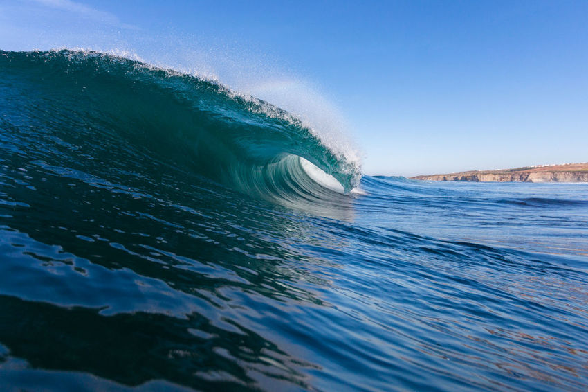 BodyBoarding Surf Wave Beach Beauty In Nature Blue Clear Sky Day Motion Nature No People Outdoors Power In Nature Reefbreak Scenics Sea Sky Water Wave Wavephotography