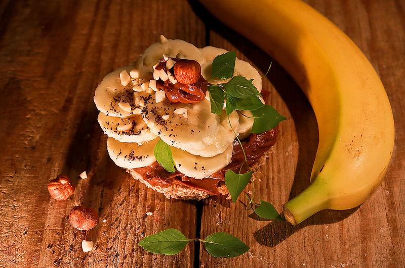 B Read Banana Banana Bread Breakfast Chocolate Cream Food Healthy Meal Stacked Bread