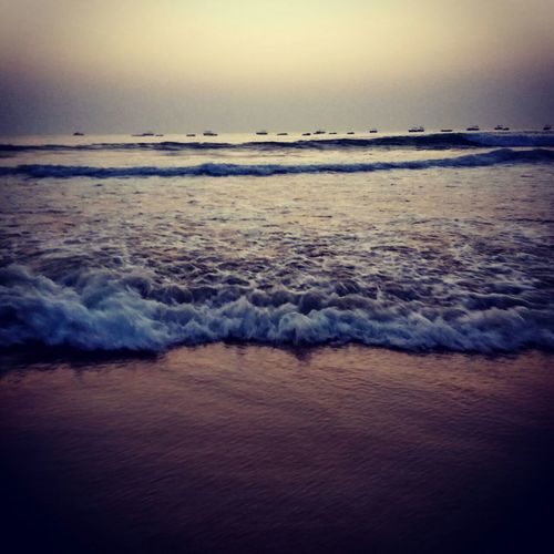 Goa Party Beauty In Nature Outdoors Beach Sea Sea Wave Nature Horizon Over Water Water Beauty In Nature Sunset Sky Beach