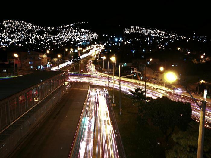 Night in light Medellin City Colombia HospitalStation Night
