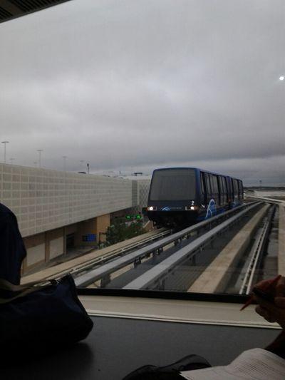Damn airport so big I had to take a train to my next terminal
