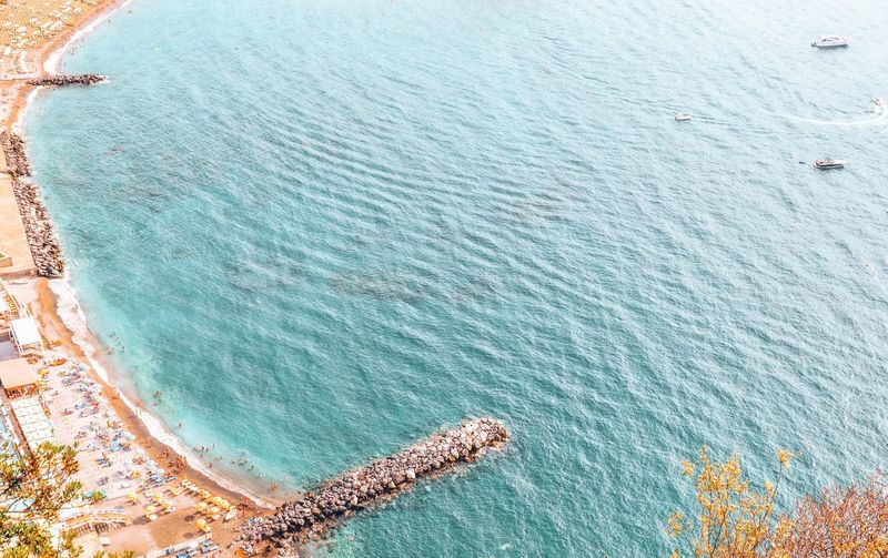 Aerial View of a Mediterranean Beach and Sea. Top View Sea_collection Sea And Beach Beach Traveling Vacations Amazing View Travel Destinations Vacation Destination Beach Life Beachphotography View From Above Water Sea Beach Sand Aerial View High Angle View Sky Clear Turquoise Peaceful Sandy Beach Calm Turquoise Colored Seascape Shore Surface Ocean Pebble Beach