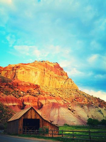 Capital Reef National Park, Utah Barn House Blue Sky Mountain View Nature_perfection Showcase: February Landscapes With WhiteWall Great Outdoors With Adobe