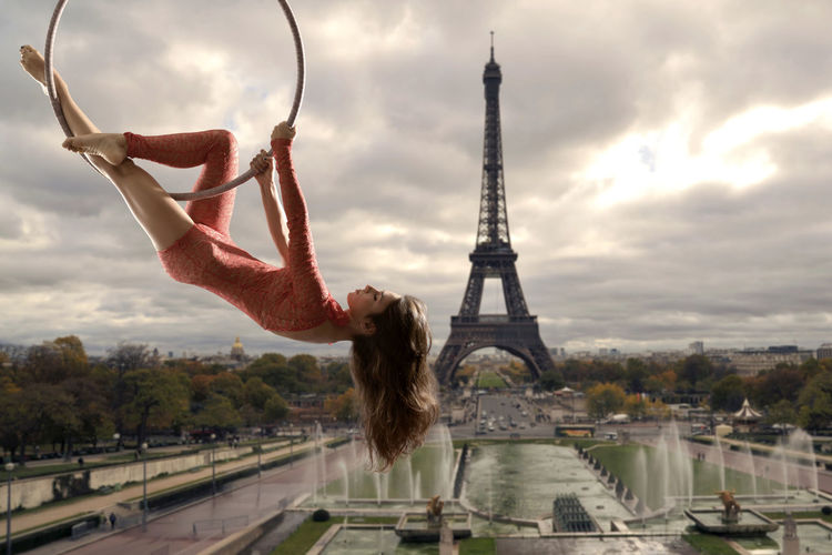 Acrobatic Acrobatics  Aerial Aerial Acrobatics Aerial Hoop Beautiful Woman Girl Legs Model Outdoors Paris Paris ❤ Paris, France  Vertigo Woman The Creative - 2018 EyeEm Awards