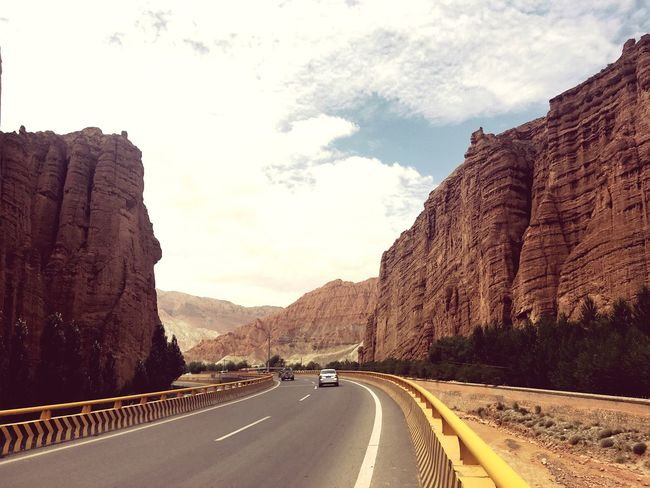 Hello World Traveling Danxia Landform IPhoneography Road Hanging Out On The Way