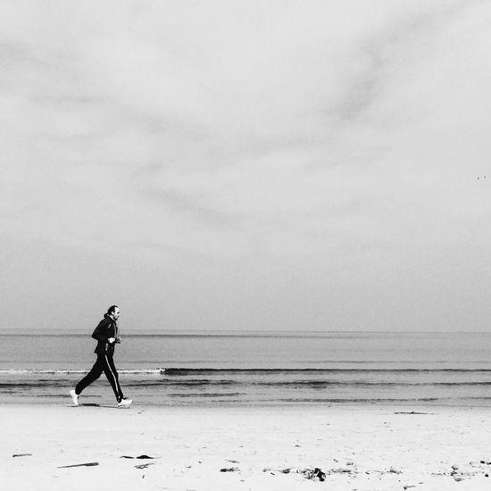 On the beach Blackandwhite NEM Black&white IPhoneography IPSMinimalism
