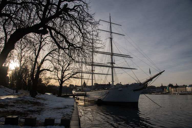 City Day Harbor Nautical Vessel No People Outdoors Sailing Ship Sky Stockholm, Sweden Tall Ship Transportation Tree Waterfront