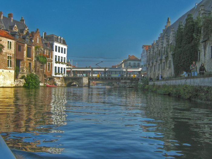 GENT-BELGIUM Hdr_oftheworld Myhdrworld Architecture Water Reflections Bluesky Buildings & Sky River View
