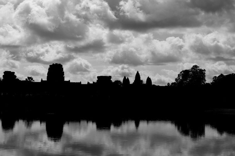 #angkor Wat #cambodia #siem Reap Architecture Beauty In Nature Building Exterior Cloud - Sky Day Growth Nature No People Outdoors Reflection River Scenics Silhouette Sky Tranquility Tree Water Waterfront