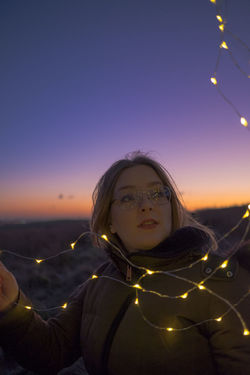 Hills Skies Deep Colours Fairy Lights Nature Night Time Outdoors Portrait Sunset