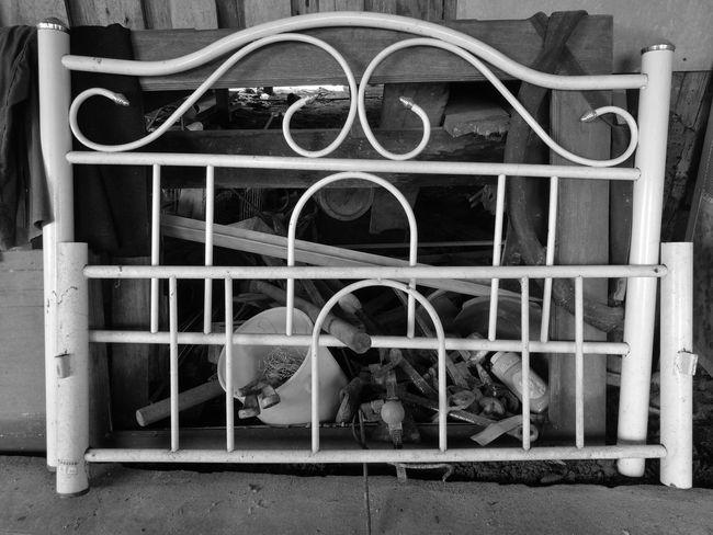 Antique Bed White And Black Monochrome Mono