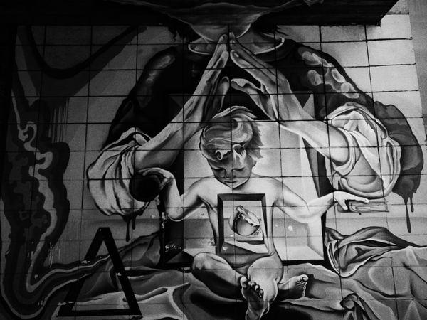 Street Art Street Art/Graffiti BabyJesus Modern Art Wall Russia Archangelsk Blackandwhite Phsycedelic Surrealism