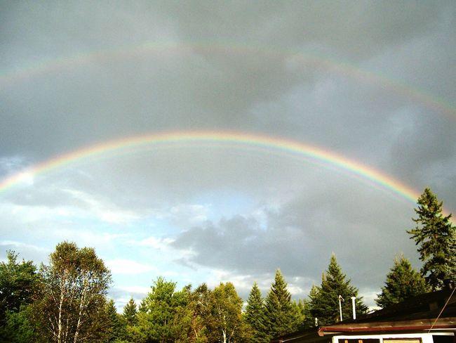 Ontario Rainbow Double Rainbow Rainbow Outdoors Nature Spectrum Multi Colored Beauty In Nature Sky Refraction Weather Cloud - Sky Day Massey Ontario Ontario, Canada Ontario