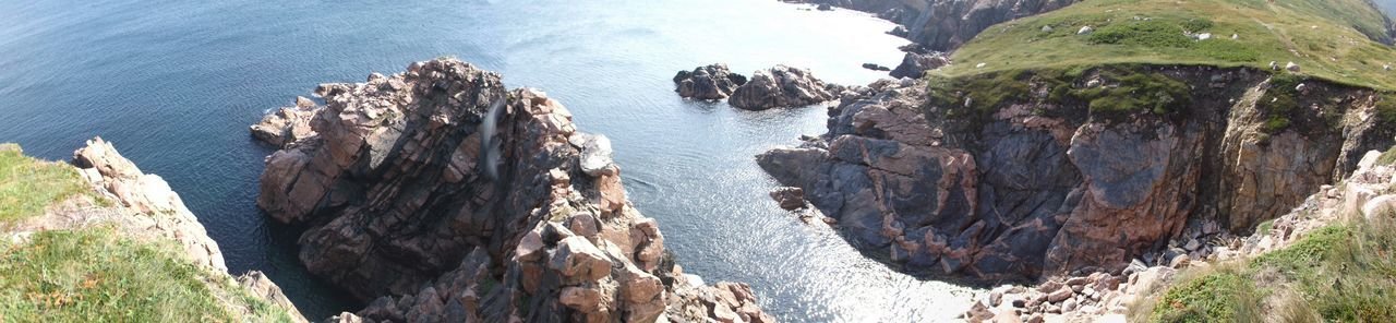 Panorama Ocean Cliffs Ocean Rocks White Point Canada Novascotia Capebreron Taking Photos Enjoying Life