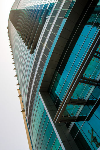 Marina Dubai Architecture Built Structure Building Exterior Modern Office Building Exterior Building Office City Glass - Material Reflection Low Angle View Skyscraper No People Tall - High Day Sky Pattern Tower Outdoors Nature Glass Directly Below