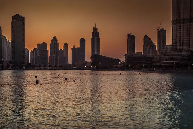 Burj Khalifa Dubai Dubai Fountain Dubai Mall No People UAE