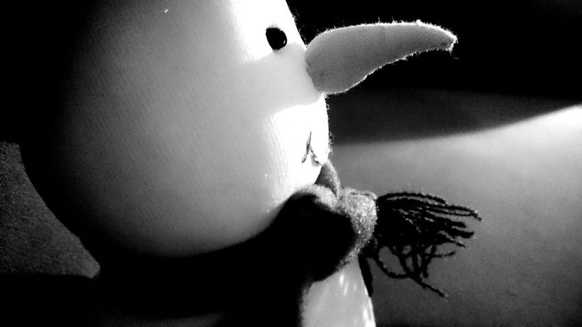 Nose Carrot Snowman Wintertime Wintermood Expectations First_snow Waiting Light And Shadow Blackandwhite Black & White B&w Photography Faces Perspectives Toy Toy Photography